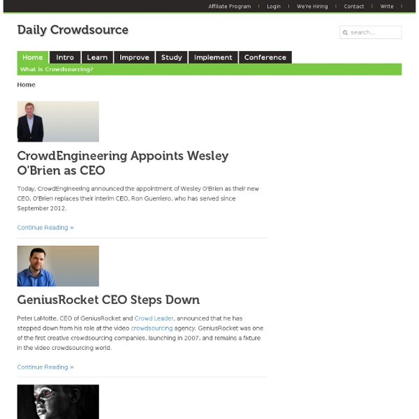 #1 Site for Crowdsourcing, Crowdfunding, & Open Innovation News
