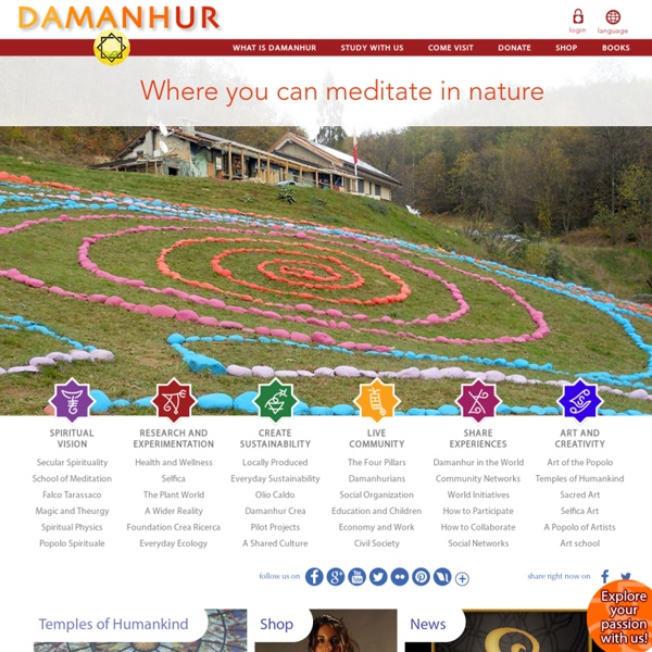 Damanhur Home Page