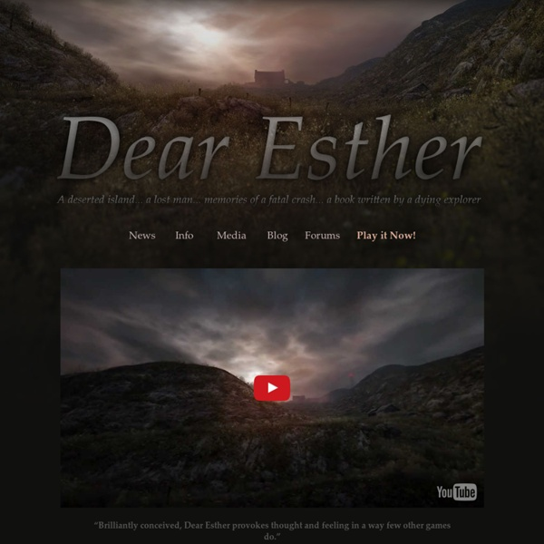 Home » Dear Esther