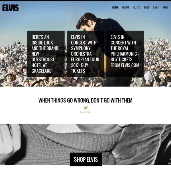 Elvis Presley Official Web Site - Graceland Mansion - Memphis, Tennessee