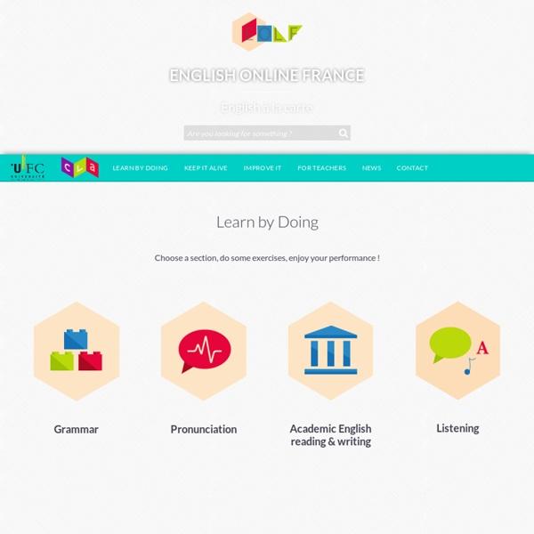 Exercices Prononciation : English Online France