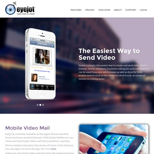 Eyejot - Video Mail In A Blink