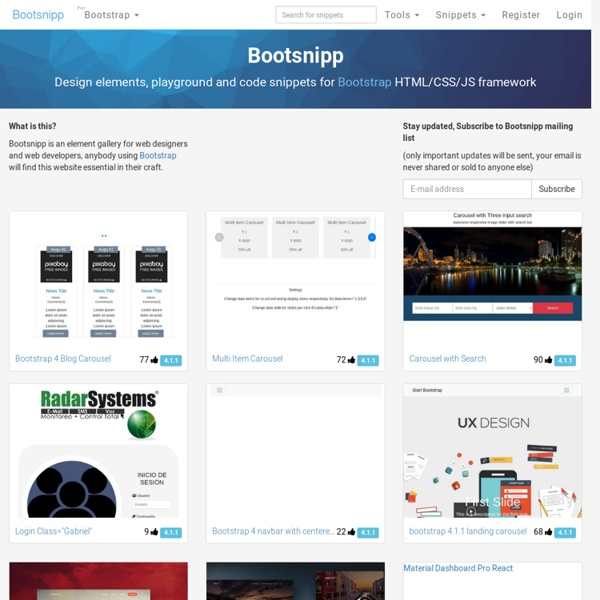 Home of free code snippets for Bootstrap