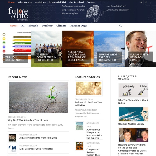 Front page - FLI - Future of Life Institute