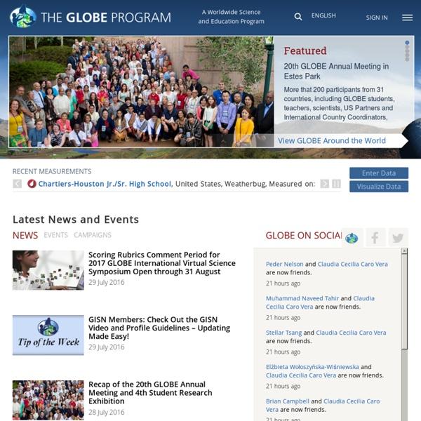 Home - GLOBE.gov