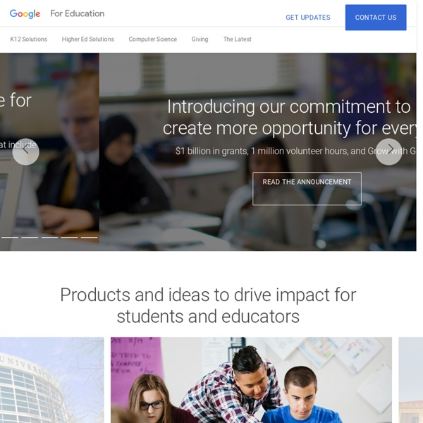 Google for Education: A solution built for teachers and students