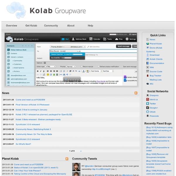 Kolab Groupware