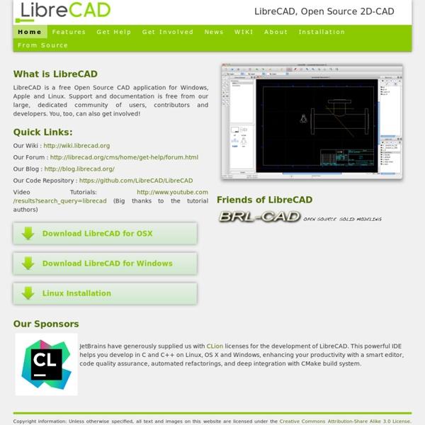 Home of LibreCAD, 2D-CAD