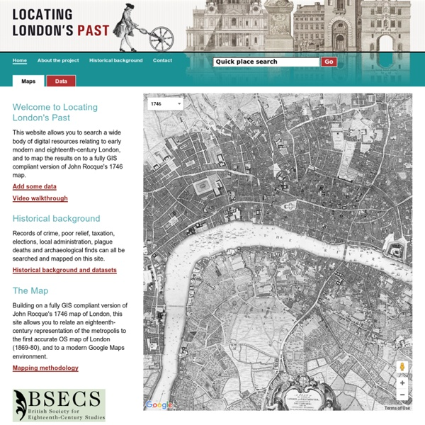 LOCATING LONDON'S PAST