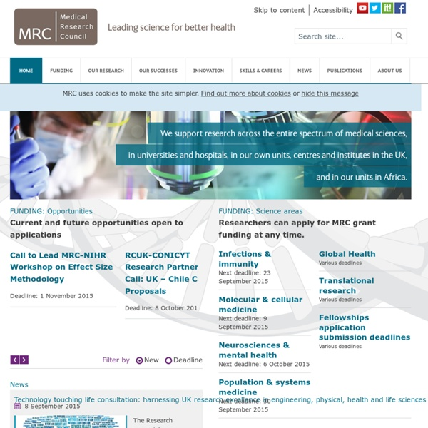 Medical Research Council-Home