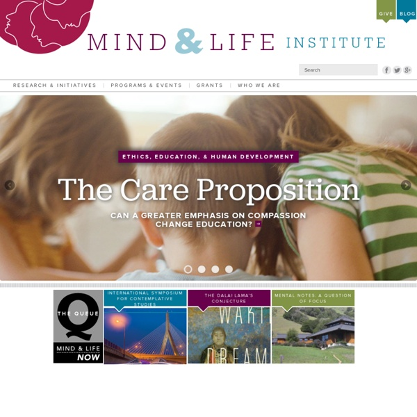 Home - Mind and Life Institute