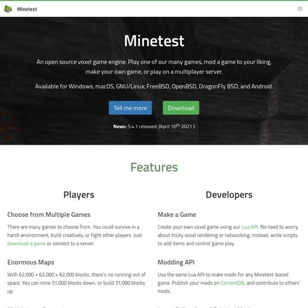 Minetest - Site Officiel (US)