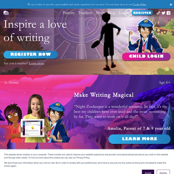 Night Zookeeper - Inspire kids to write, read and draw