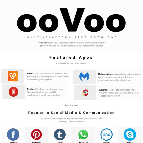 Free Video Chat and Video Conferencing from ooVoo