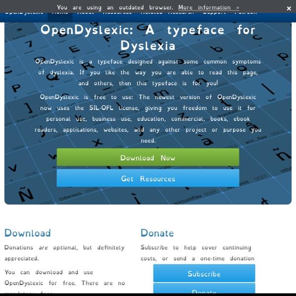 Free, OpenSource Dyslexia Typeface
