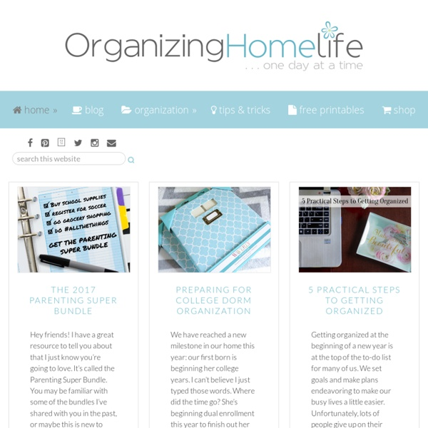 Organizing Homelife
