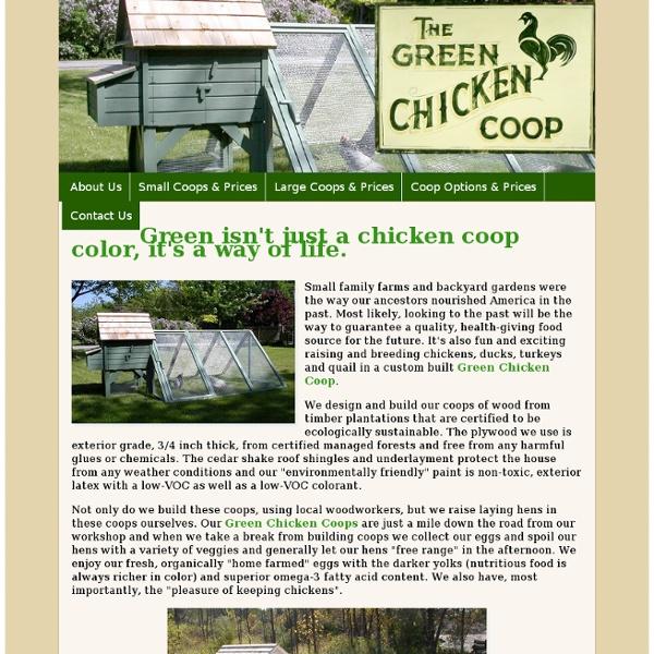 Green Chicken Coops