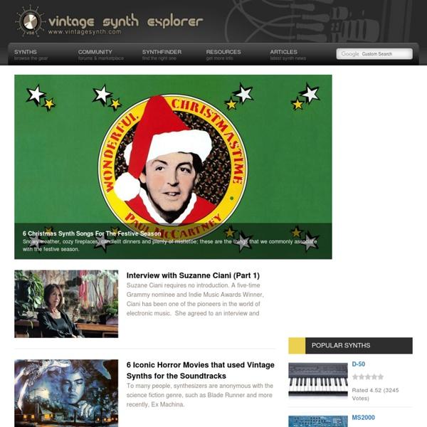 Vintage Synth Explorer
