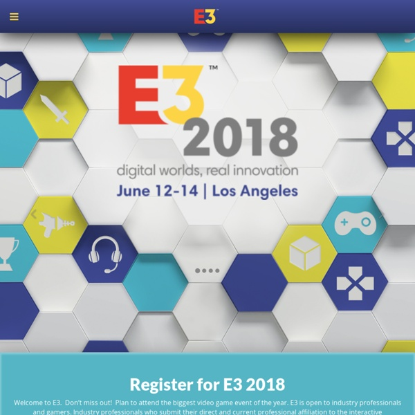 E3 2013 - What's Next NOW: June 11-13, 2013