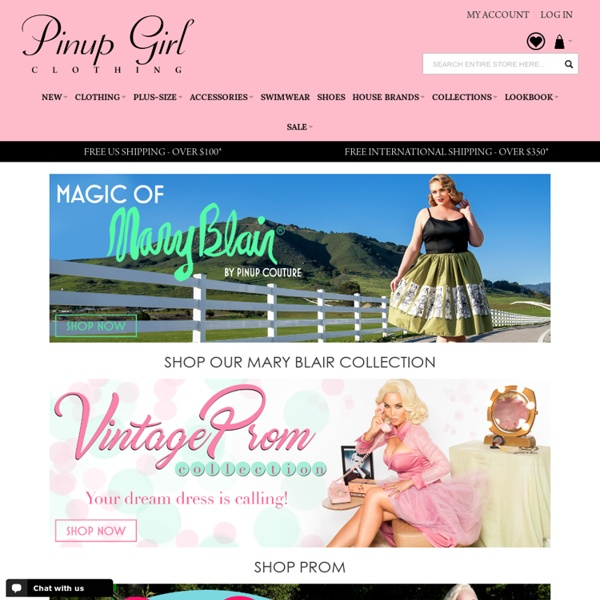 Pinup Girl Clothing! - Retro Clothing, Retro Dresses, Rockabilly Clothing, Vintage Reproduction Clothing and More!