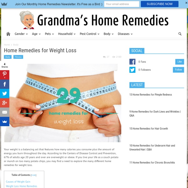 Home Remedies for Weight Loss Grandma's Home Remedies Pearltrees