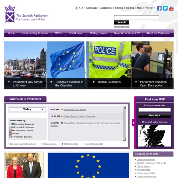 The Scottish Parliament - Homepage
