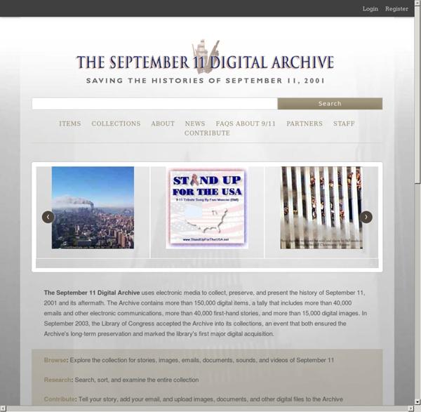 Home · September 11 Digital Archive