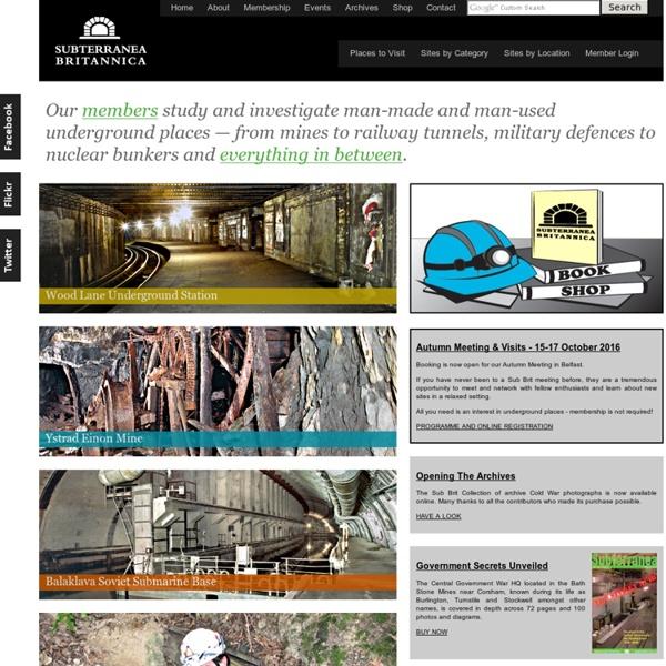 Home - Subterranea Britannica