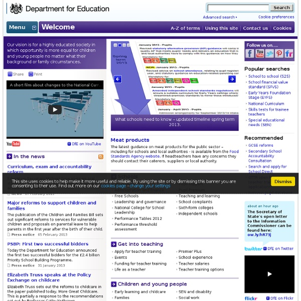 Home - The Department for Education