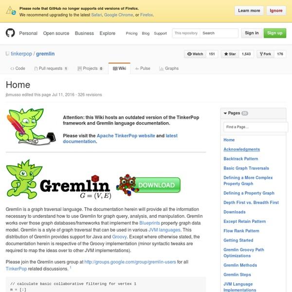 Gremlin · tinkerpop/gremlin Wiki