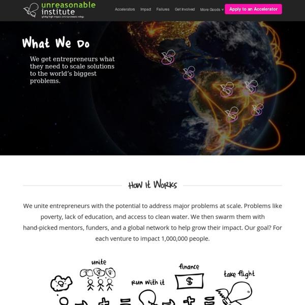Unreasonable Institute – International Accelerator in High-Impact Entrepreneurs