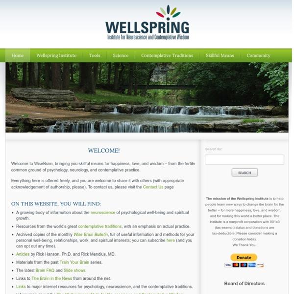 Wellspring Institute for Neuroscience & Contemplative Wisdom