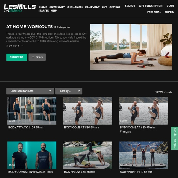 AT HOME WORKOUTS - LES MILLS ON DEMAND