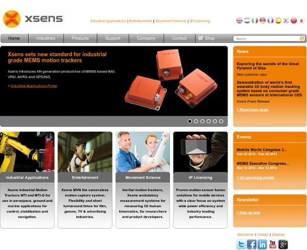 Xsens : 3D Motion Tracking - Xsens
