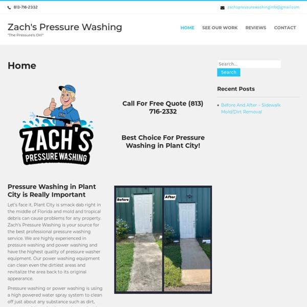 Home - Zach's Pressure Washing