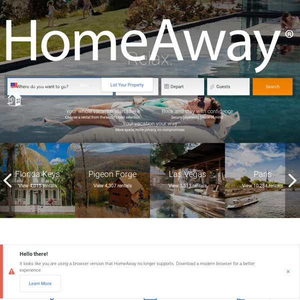 HomeAway: Vacation Rentals, Beach Houses, Cabins & More