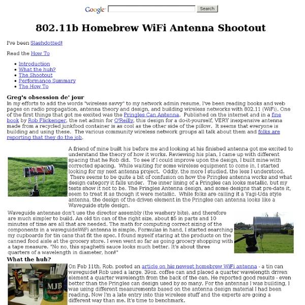 Homebrew antenna shootout