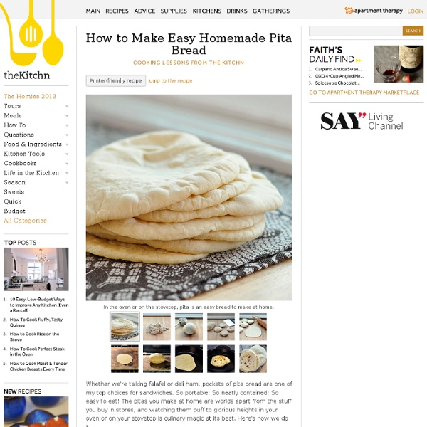 How to Make Easy Homemade Pita Bread Cooking Lessons from The Kitchn