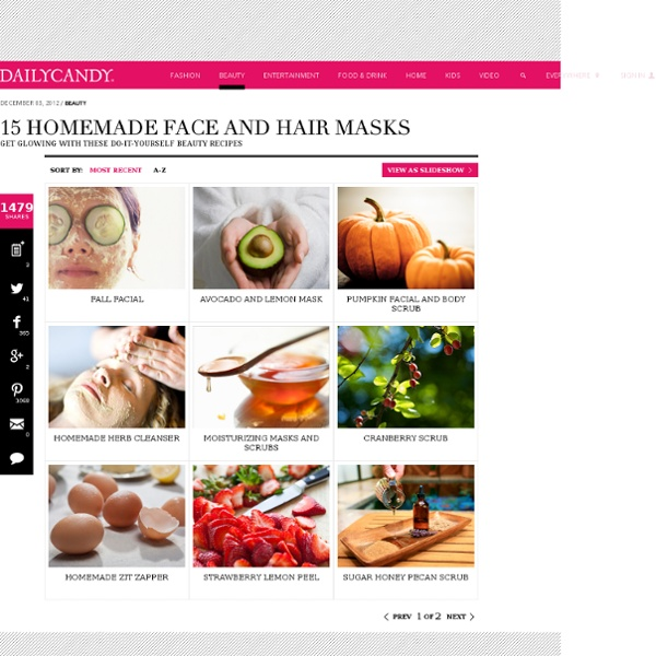 Homemade Face Masks - Homemade Beauty Recipes