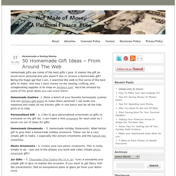 50 Homemade Gift Ideas – From Around The Web