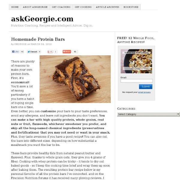 Homemade Protein Bars « askGeorgie.com