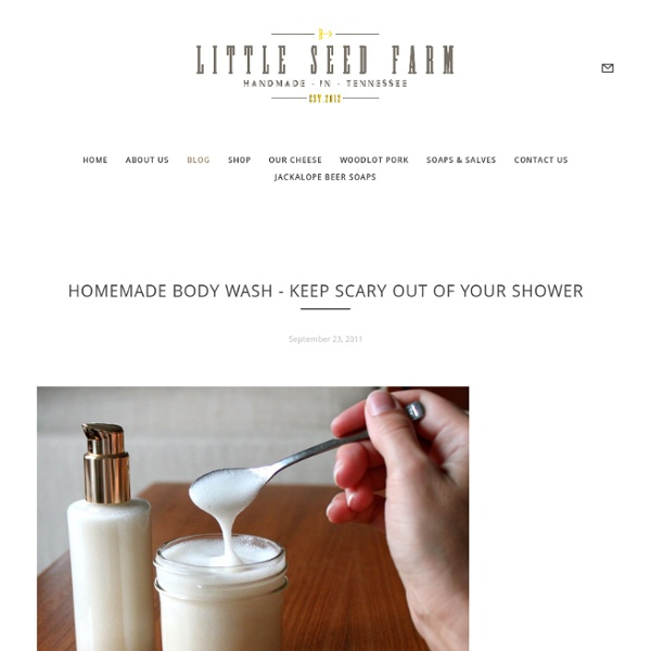 Homemade Body Wash - Keep Scary Out Of Your Shower — LITTLE SEED FARM