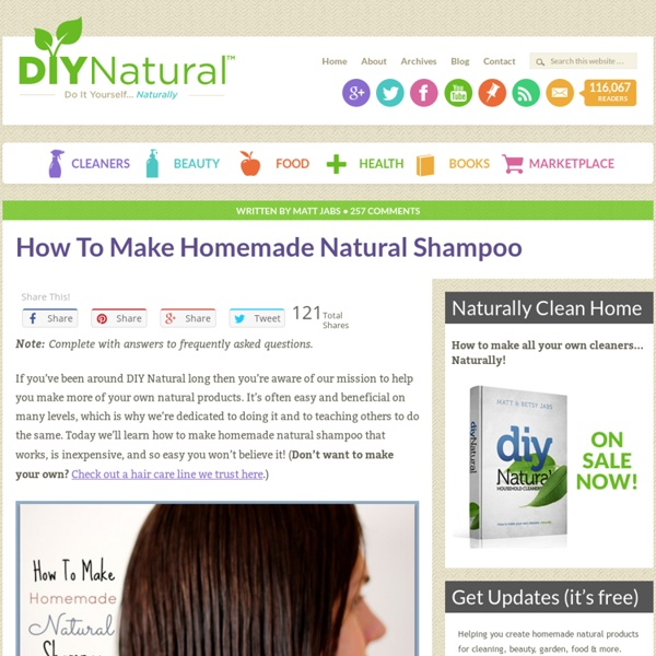 Homemade Shampoo - A Simple and Natural Recipe