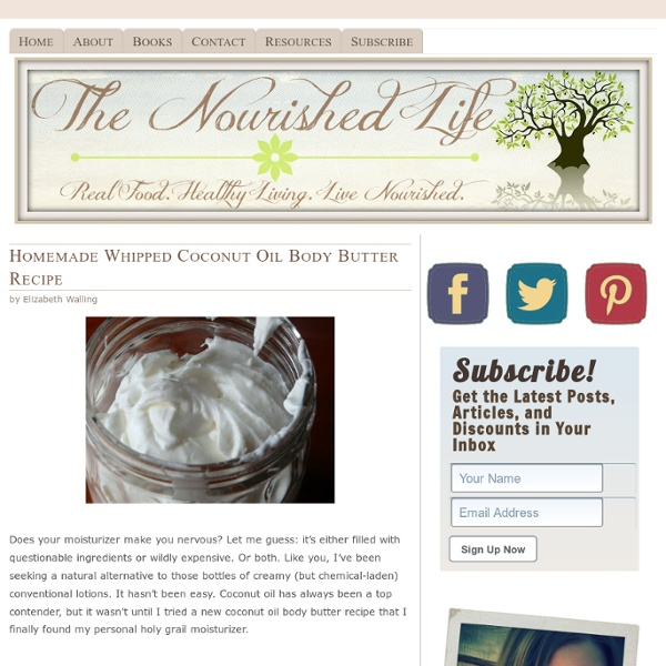 Homemade Whipped Coconut Oil Body Butter Recipe