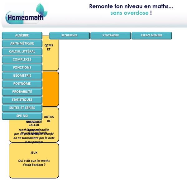 Homeomath, le site des maths a petites doses