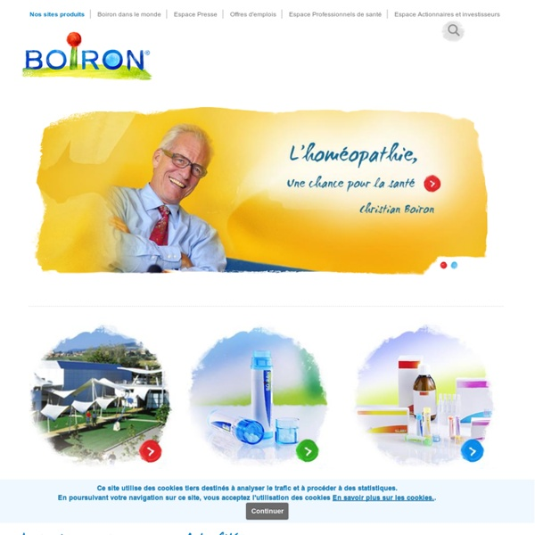 Homeopathie Boiron laboratoire pharmaceutique - Boiron