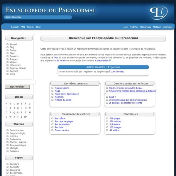 Encyclopédie paranormal