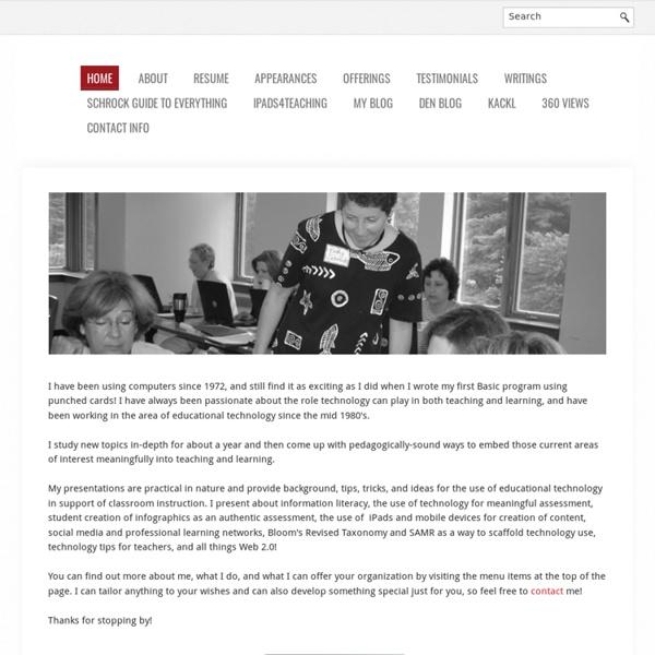 Kathy Schrock - Homepage