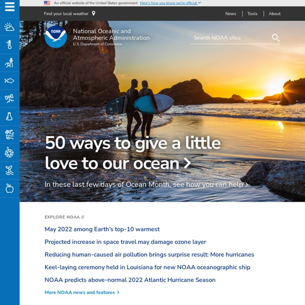 National Oceanic and Atmospheric Administration, USA (Search within this website)