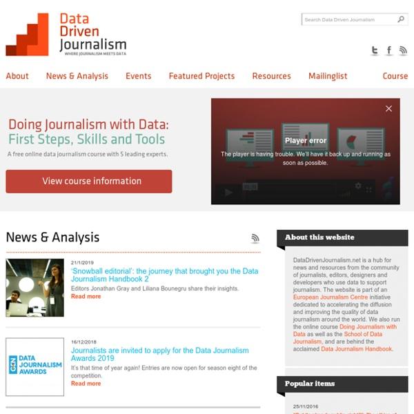 Data Driven Journalism